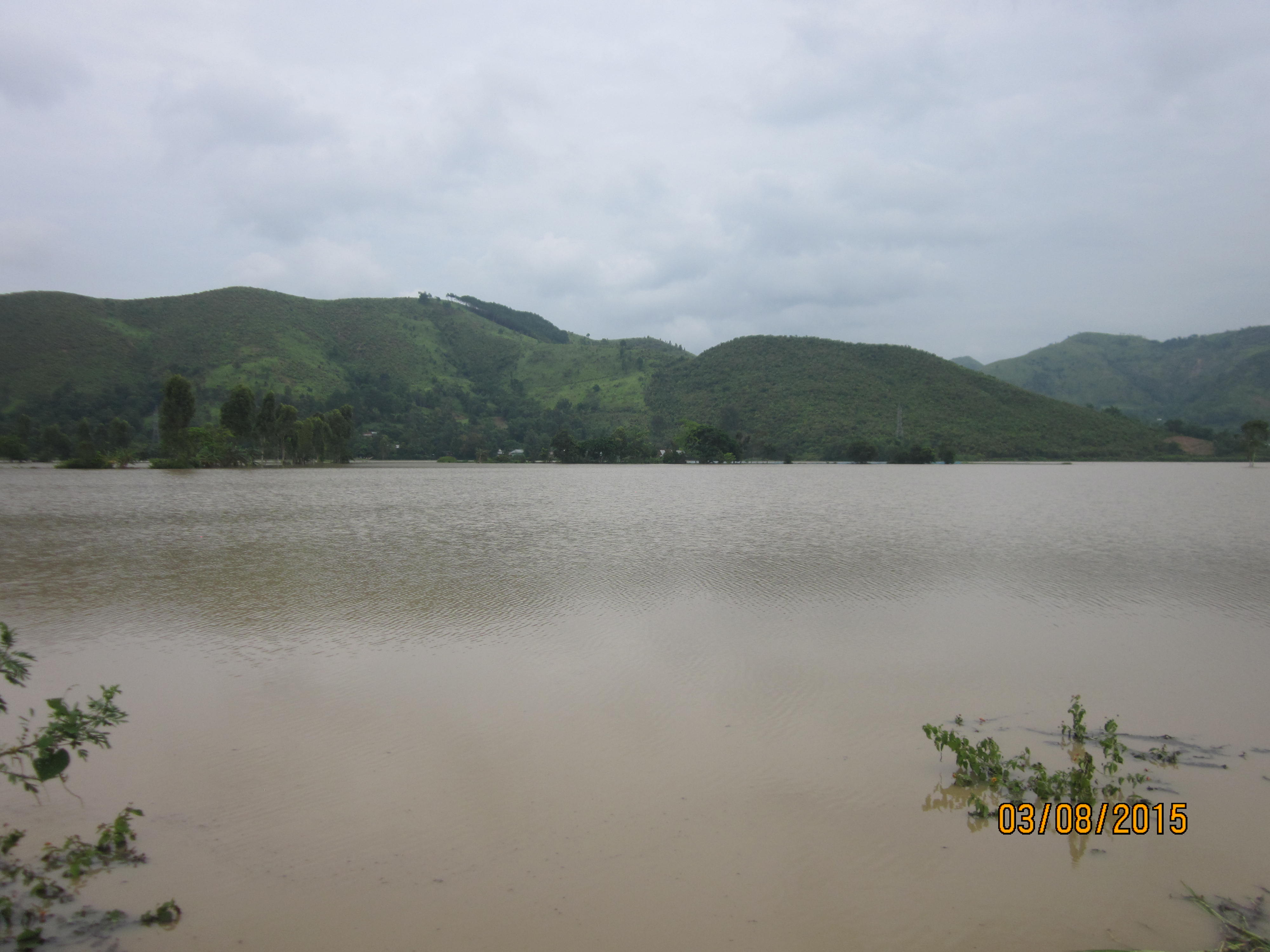 Paddy fields turns to lake in Thoubal